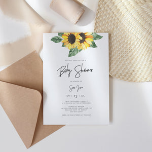 SUNNY | Baby Shower Invitation Single - MakeMeDigital