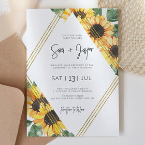 SUNNY | Wedding Invitation Single - MakeMeDigital