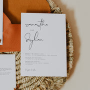 Elegant Wedding Invitation Set of 3