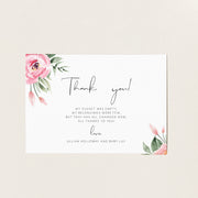 Serena Pink Peony Baby Shower Invitation Set of 4 - MakeMeDigital