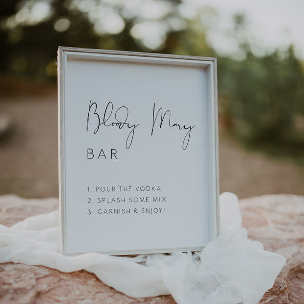 Elegant Bloody Mary Bar Sign