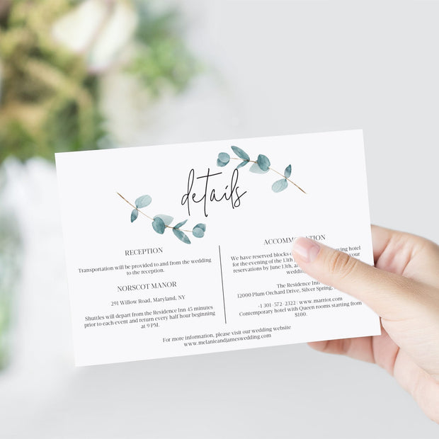 Nala Blue Eucalyptus Details Card - MakeMeDigital