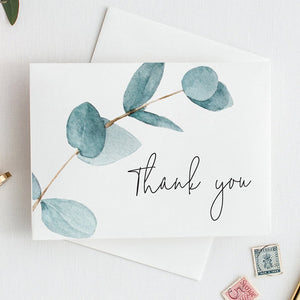 Nala Blue Eucalyptus Thank You Card - MakeMeDigital