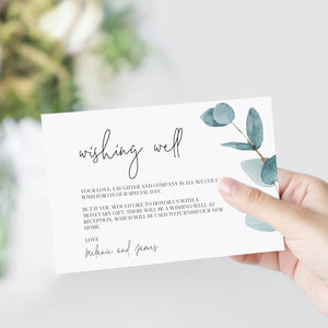 Nala Blue Eucalyptus Wishing Well Card - MakeMeDigital
