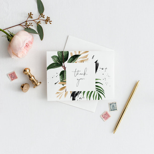 Jojo Tropical Thank You Card - MakeMeDigital