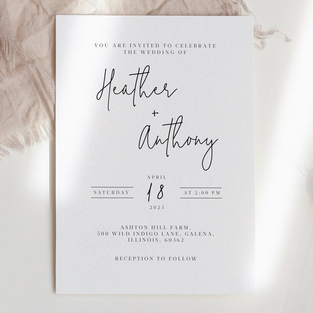 AMARA | Modern Minimalist Wedding Invite