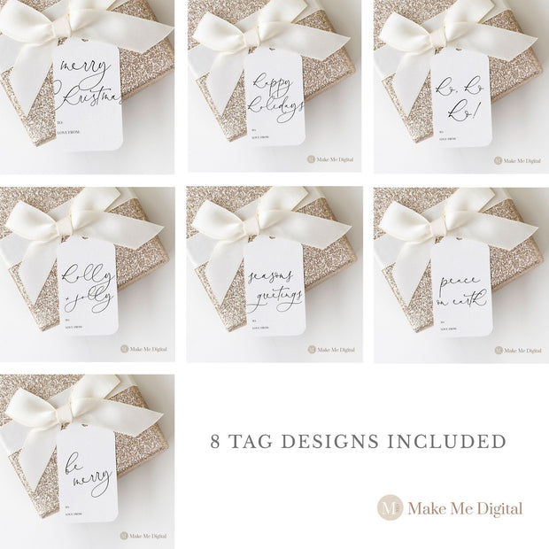 ZAHRA | 8 Printable Christmas Gift Tags