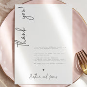 AMARA | Editable Thank you card Template