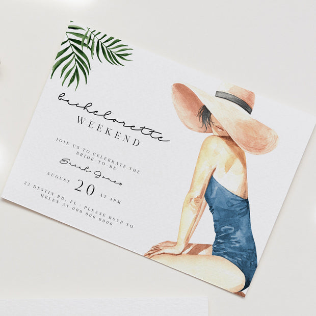 BEACH | Tropical Bachelorette Invitation