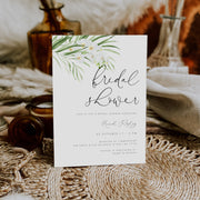 White Orchid Bridal Shower Invitation - MakeMeDigital