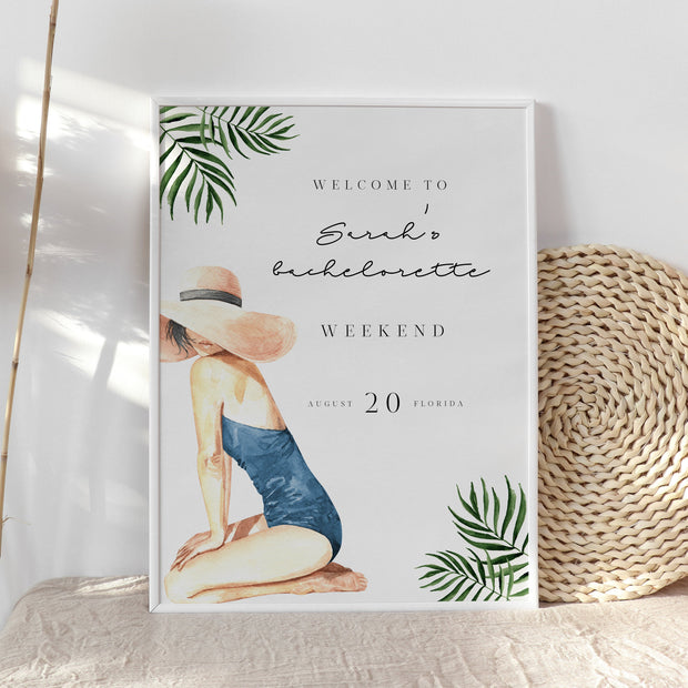 BEACH | Bachelorette Weekend Welcome Sign - MakeMeDigital