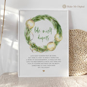 Green & Gold Christmas Late Night Diapers Sign