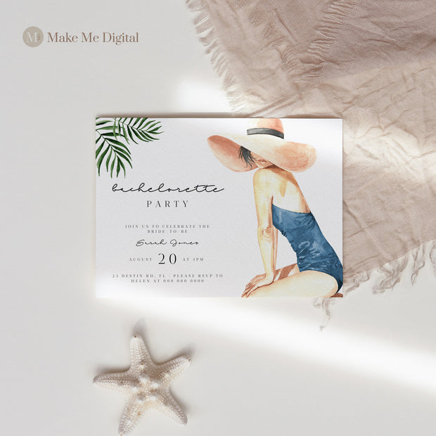 BEACH | Tropical Bachelorette Invite