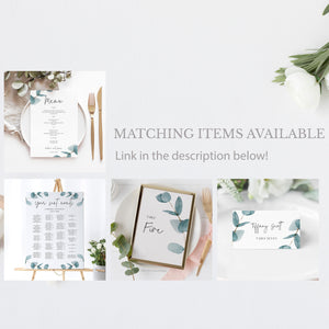 Nala Blue Eucalyptus RSVP card - MakeMeDigital
