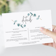 Nala Blue Eucalyptus Invitation Set of 3 - MakeMeDigital