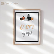HALLOWEEN | Pumpkin Welcome My Pretties Sign - MakeMeDigital