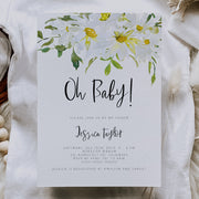 Delicate Daisy Baby Shower Invitation Set of 3