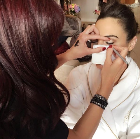 Sarah brock getting Gal Gadot red carpet ready