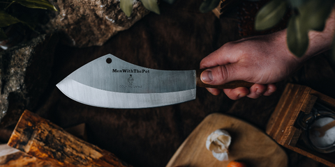 Men With The Pot Cleaver. Stainless Steel Cleaver.