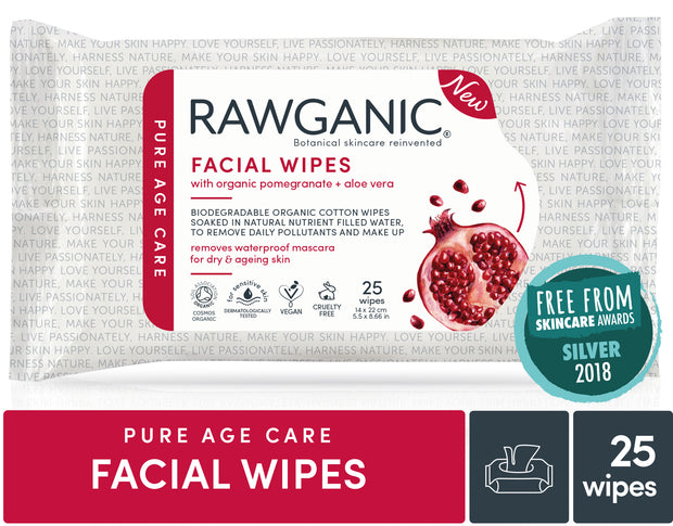 RAWGANIC Anti-ageing Facial Wipes