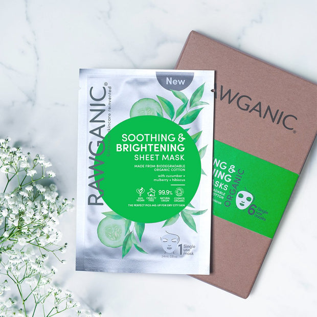 Box of 6 RAWGANIC Soothing & Brightening Sheet Mask