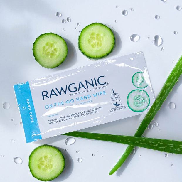 RAWGANIC On-the-Go Hand Wipe Sachets