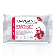 Rawganic antiaging facial wipes will remove makeup, cleanse, tone and moisturise in one simple step.  With pomegranate and aloe vera, perfect for beautiful ageing skin. Great for travel, gym use anytime, as needed.You will simply love these biodegradable organic cotton wet wipes. Vegan and Never tested on animals.