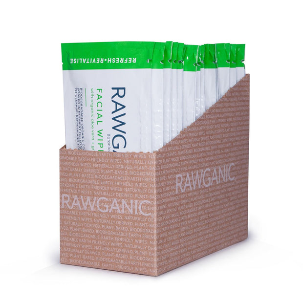 RAWGANIC Refreshing Facial Wipe Sachets