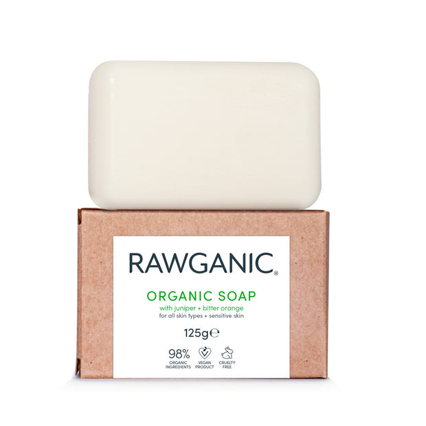 By introducing Rawganic soap we want to bring you back to basics. Our soap is truly natural, high-quality versatile and eco-friendly product, suitable for hand, body, baby and even pet wash. Infused with skin moisturizing, soothing and calming Juniper, Bitter Orange and Lavender oils. Made from 98% organic ingredients, our soap is completely biodegradable, vegan, and cruelty-free and planet-friendly.