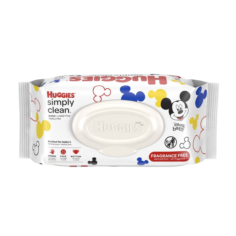Huggies Simply Clean Fragrance-Free Baby Wipes 64ct