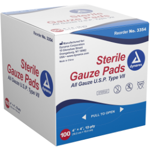 GAUZE PAD 12PLY STERILE 100 COUNT