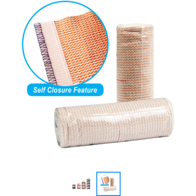 BANDAGE ROLLS - ELASTIC WITH SELF CLOSURE