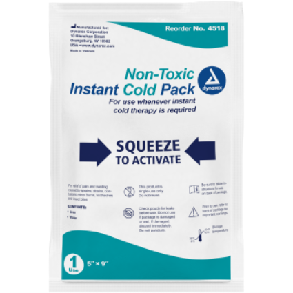 "Cold pack Instant 5"" x 9"" *24 count"