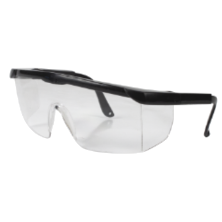 Safety Glasses Black Qty 1