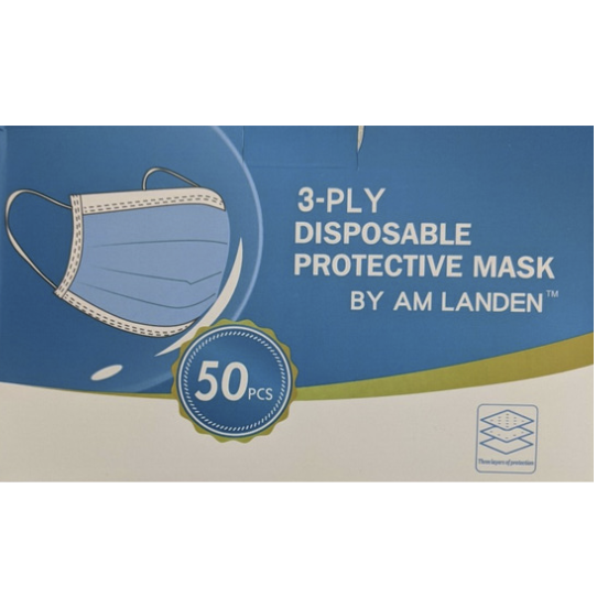 Non-Medical 3-PLY Disposable Protective Masks (50 ct)