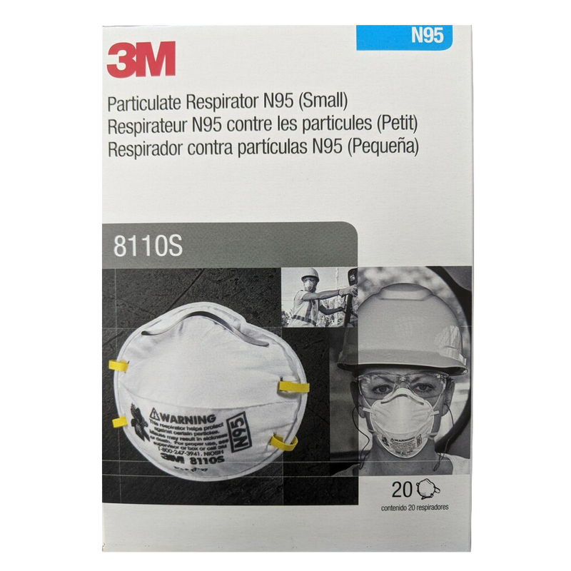 Mask N95 8110 S ***3M Brand*** (20 pack = 1 box)