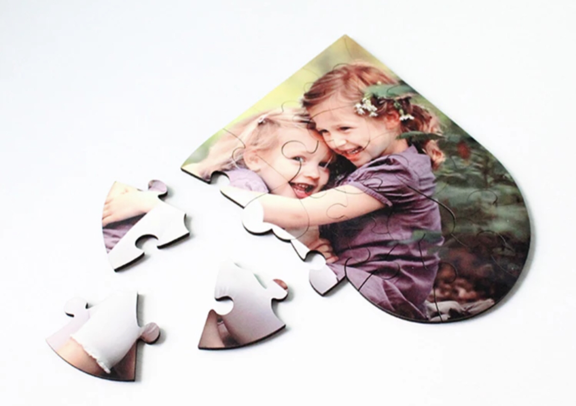 MDF Heart shaped puzzle CHILD