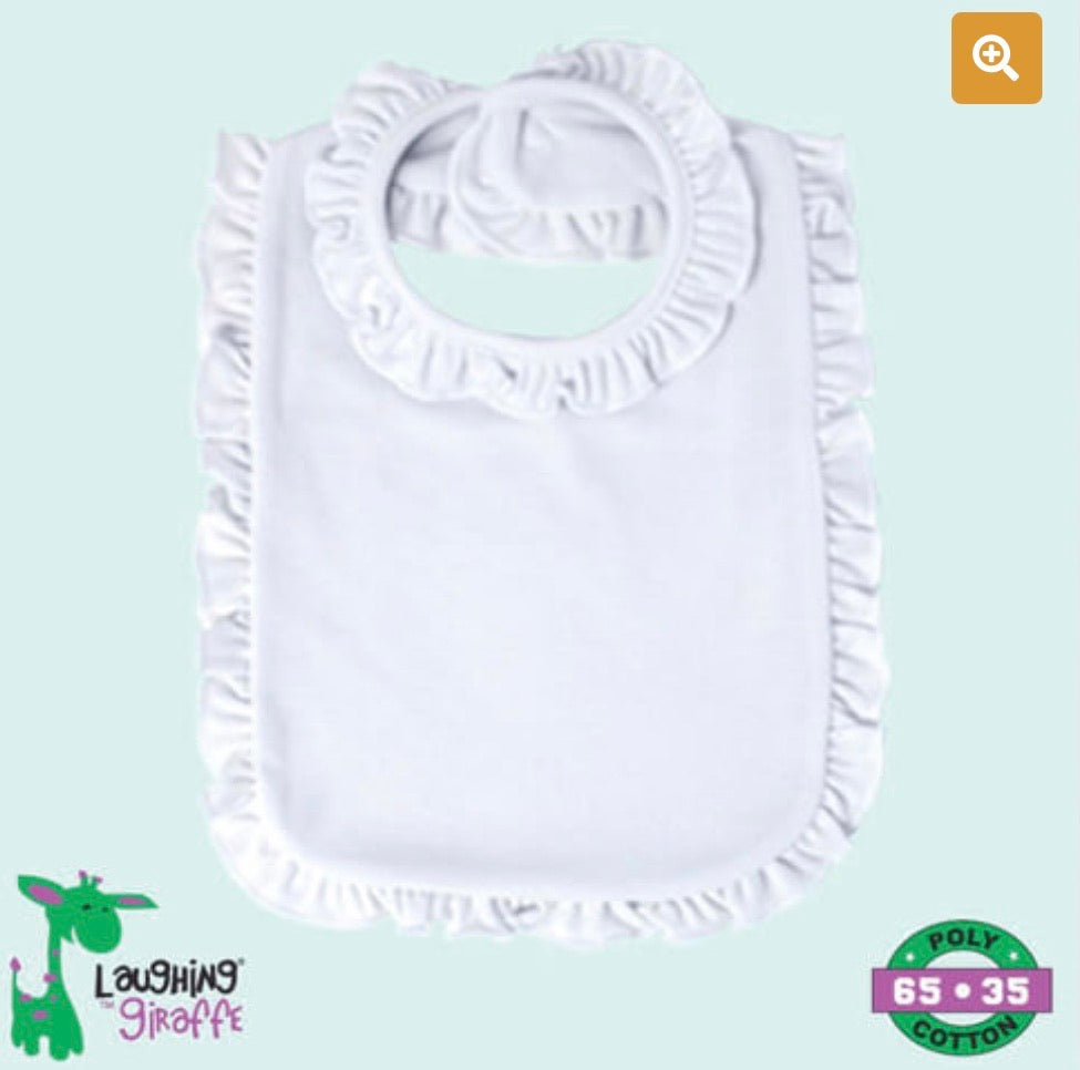 Ruffled Infant Bib 2 Ply