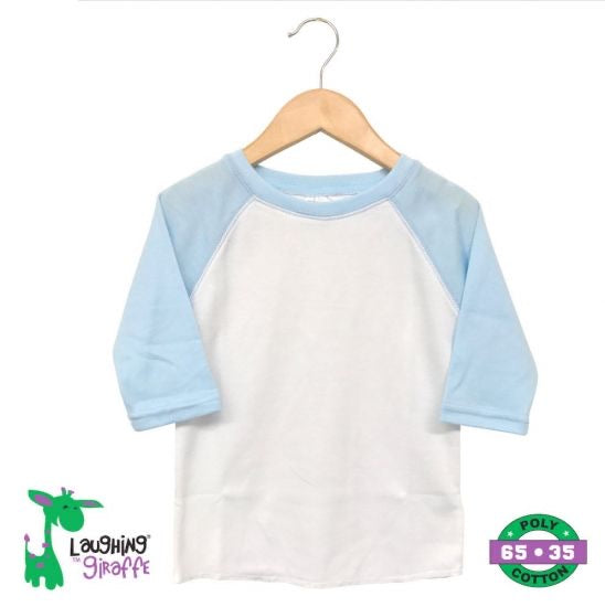 Toddler Raglan Light Blue Polyester Shirt