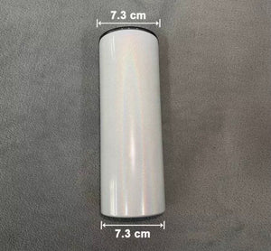 Sublimation STRAIGHT Skinny SHIMMER white Tumblers 20 OZ