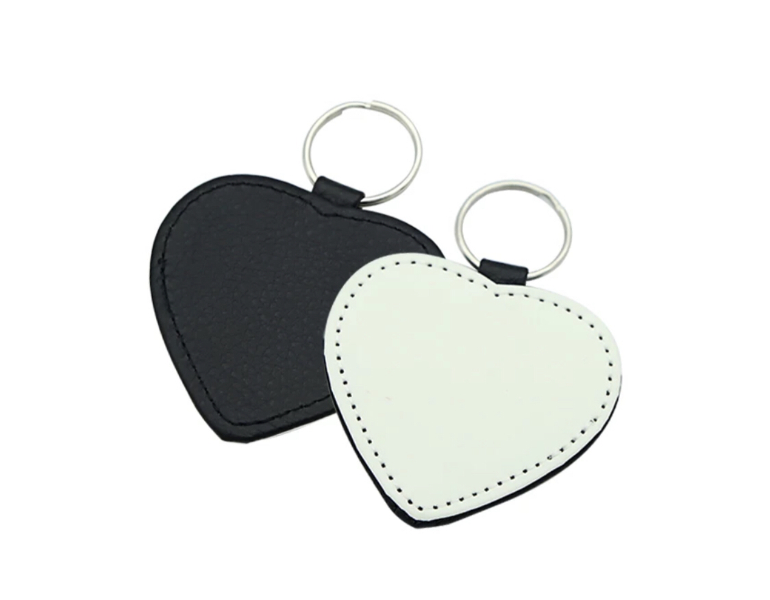 Sublimation leather keychain- Heart