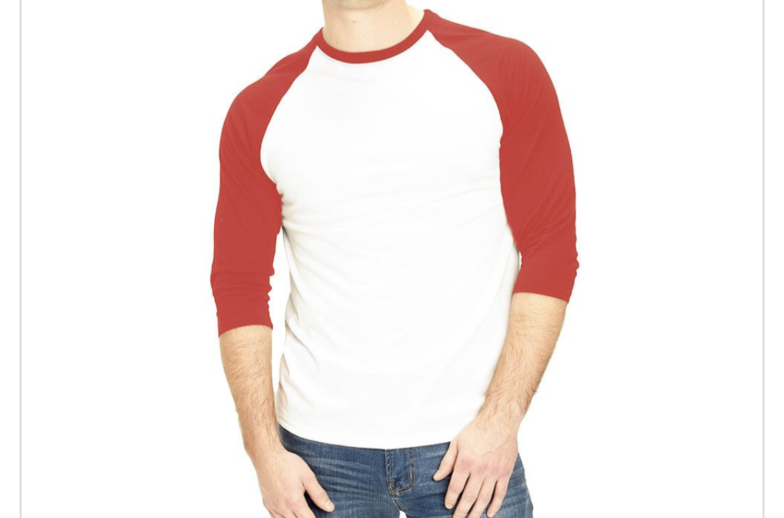 Adult Red 100% Polyester body Raglan Shirt