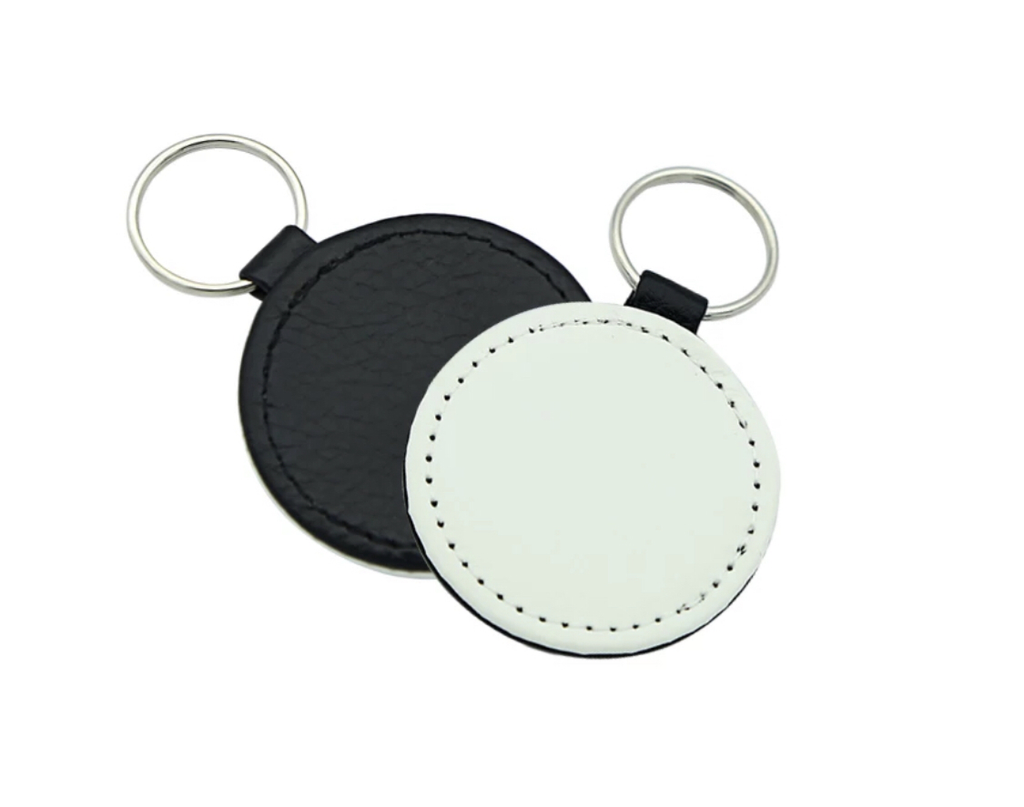 Sublimation leather keychain- Round