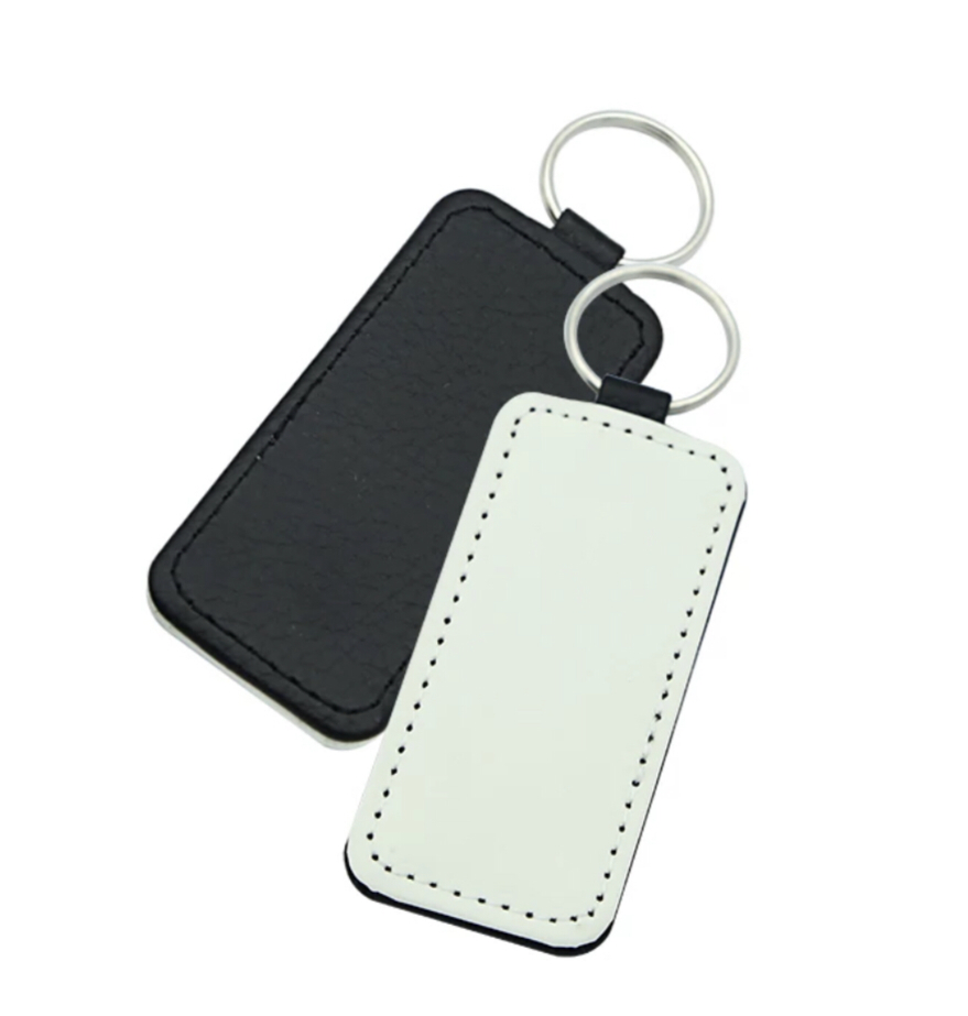 Sublimation leather keychain- Rectangle