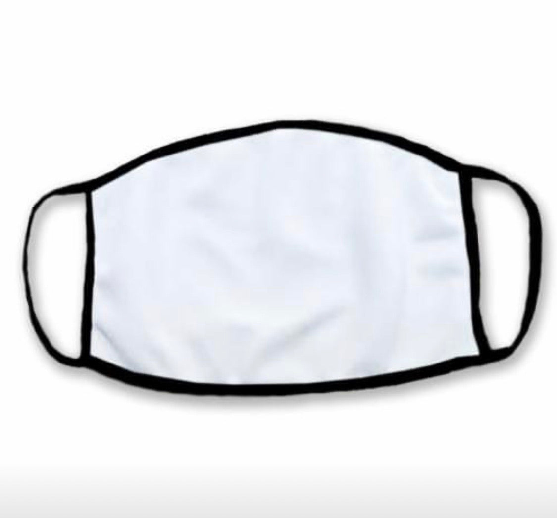 Sublimation masks ADULT Small No Ear Saver