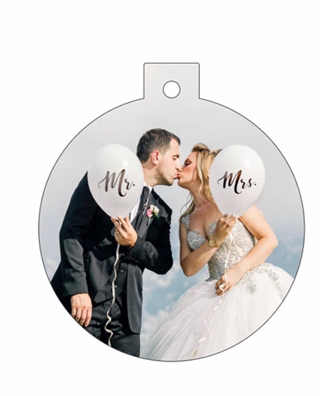 Round Aluminum Ornament WITH TAB