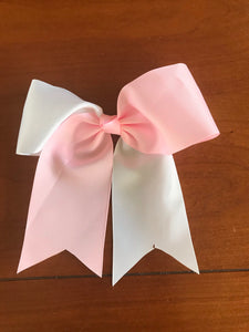 Pink/ White Hair bows