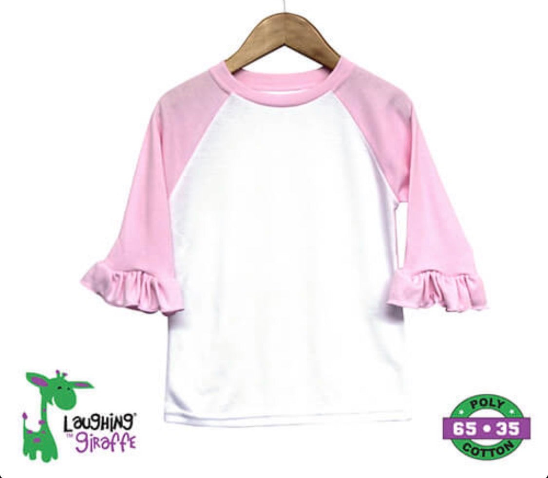 Baby RUFFLED Raglan Light Pink