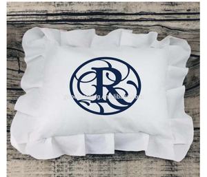 Ruffled pillow cover for sublimation