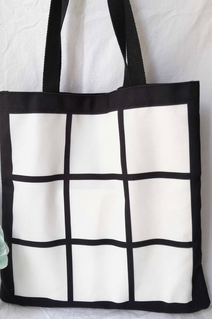 Photo linen tote bags